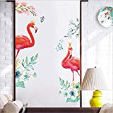 Best Wall Stickers For Bedroom Sofas - Prabahdak Pink Red Flamingo Wall Decal Flower Wall Review