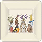 Paperproducts Design PPD 87233 Party Snacks Dessert Paper Plates, Eight - 7'' Square plates, Multicolored