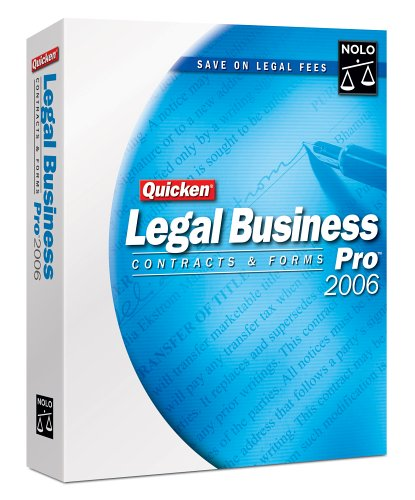 Nolo Press Quicken Legal Business Pro 2006 [Old Version]