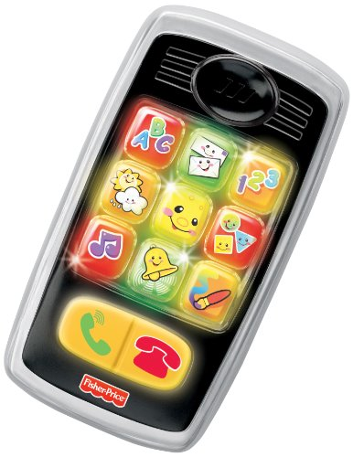- Fisher-Price Laugh & Learn Smilin' Smart Phone, Black