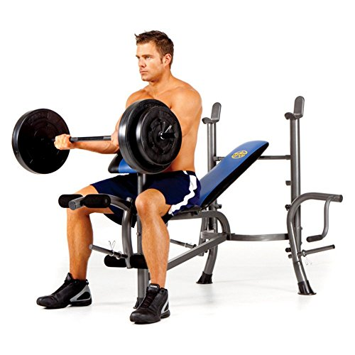 Marcy 80 lb. Vinyl Weight Set Bench Combo with Butterfly