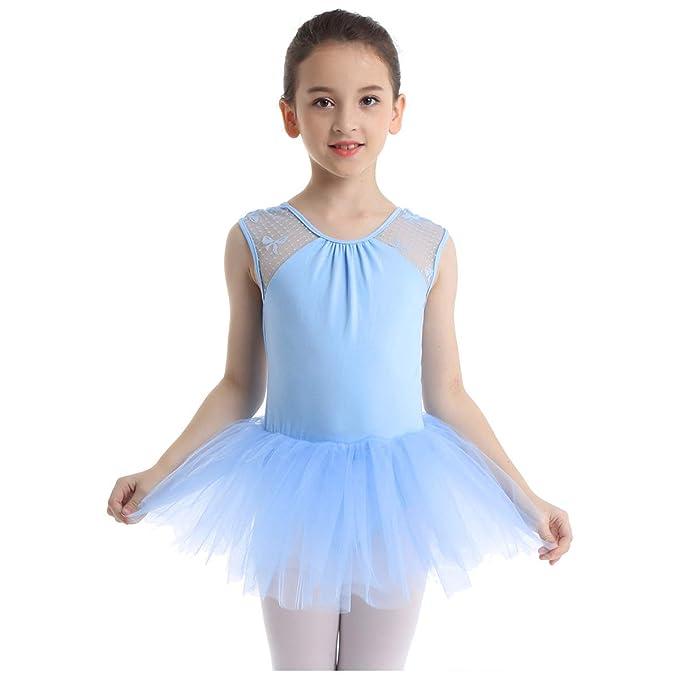 inhzoy Vestido de Danza Ballet Niña Traje de Bailarina ...