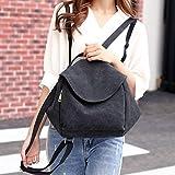 Canvas Backpacks Bags,Hemlock Women School Backbags Shoulder Bags Big Travel Knapsacks (23x12x32cm, Black)