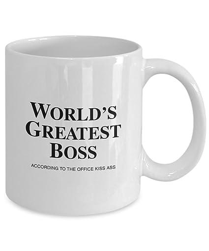 Amazoncom Funny Office Mug Worlds Greatest Boss According To