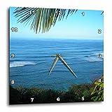 3dRose dpp_22952_3 Hawaii Ocean II Wall Clock, 15 by 15-Inch