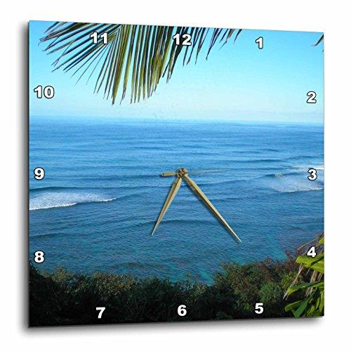3dRose dpp_22952_3 Hawaii Ocean II Wall Clock, 15 by 15-Inch by 3dRose