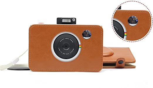 Borsa per fotocamera in pelle PU qualit/à fotocamera retr/ò custodia protettiva per Polaroid Snap touch Model fotocamere