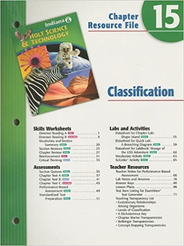 Holt Science & Technology Indiana Grade 6 Chapter 15 Resource File ...