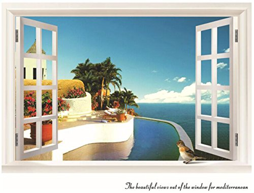Wall Decal 3d Mural a Corner Removable Wall Stickers-60 x 90cm - 4