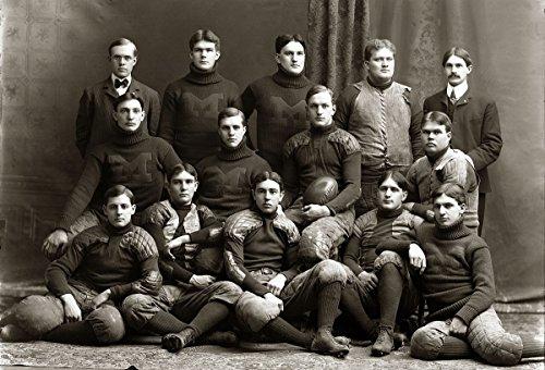 (8 x 10 Tin Sign 1900 Michigan Wolverines Football Team)