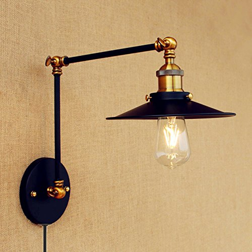 Cheap  Minimalist Wall Light Sconce Plug-In E26 Base Modern Wall Lamp Fixture Bedroom,Night..