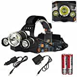 Genwiss 6000LM CREE XM-L XML 3T6 LED Rechargeable HeadLamp HeadLight Tourch 2*18650 For Outdoor Sports