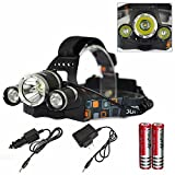 Sports Outdoors Best Deals - Genwiss 6000LM CREE XM-L XML 3T6 LED Rechargeable HeadLamp HeadLight Tourch 2*18650 For Outdoor Sports