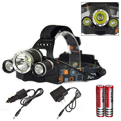 Genwiss 6000LM CREE XM-L XML 3T6 LED Rechargeable HeadLamp HeadLight Tourch 218650 For Outdoor - Top Brighteyes Hat