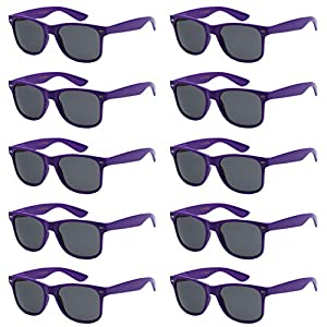 Wholesale Unisex 80's Retro Style Bulk Lot Promotional Sunglasses - 10 Pack