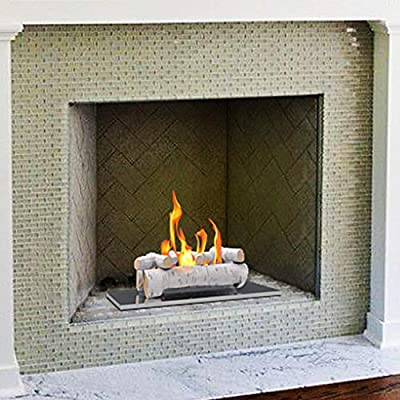"""Regal Flame 6 PC 22"""" Ceramic Wood Large Gas Fireplace Logs for All Types of Indoor, Gas Inserts, Ventless & Vent Free, Propane, Gel, Ethanol, Electric, or Outdoor Fireplaces & Fire Pits"""