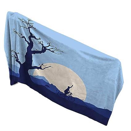 Amazoncom Qin Home Quick Dry Bath Towel 315 X 63 Inchrising Moon