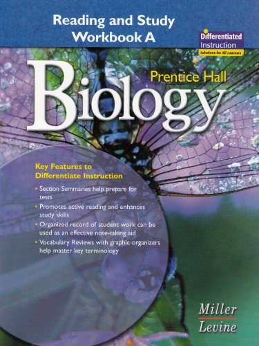 PRENTICE HALL BIOLOGY GUIDED READING AND STUDY WORKBOOK 2006C