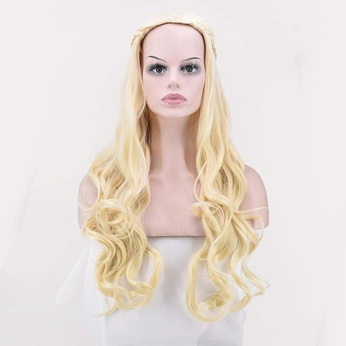 Hunzed Beauty Peluca de Disfraz de Khaleesi de Daenerys Targaryen ...