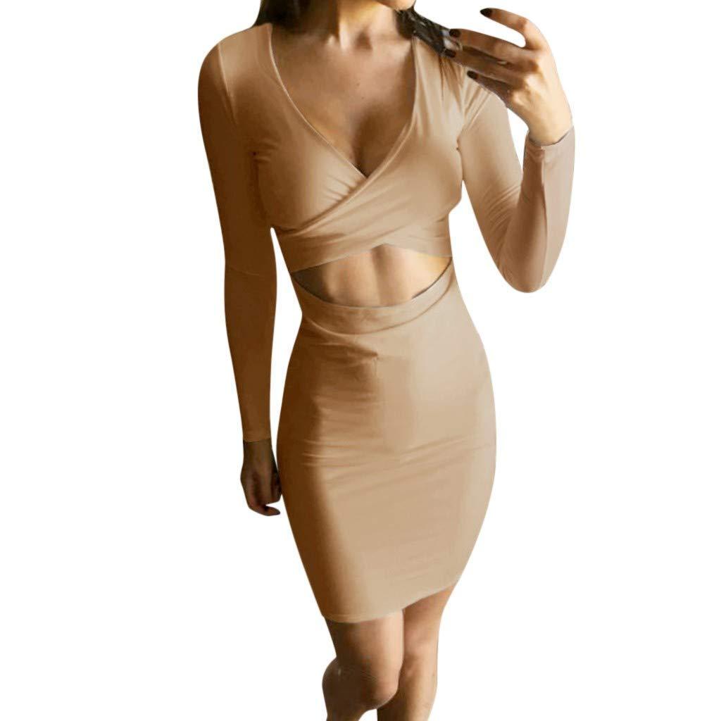 Amazon.com: Club Mini vestido de mujer, sexy y ajustado ...
