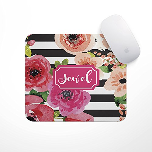 Personalized Mouse Pad - Watercolor Flowers - Custom Personalize Gift Mousepad- Neoprene Mouse Pad - Office Desk Decor - Gaming (Best Designer Mouse Pads)