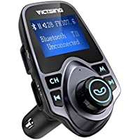VicTsing Bluetooth FM Transmitter for Car, Wireless...