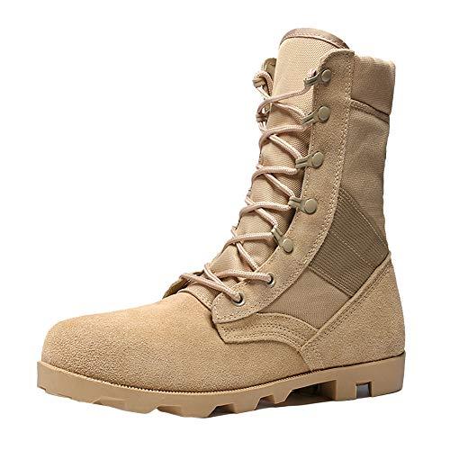 Stivali da Lavoro Mens Puntale in Acciaio Puntale in Acciaio Impermeabile Scarpe da Ginnastica Martin Stivali Desert Boots Alti Stivali da Combattimento Autunnali Yellow