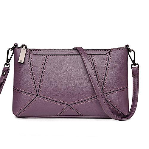 Handbag De Mujer La Violeta Caqui Maletín Cruzada El Piel Suave Hombro Lady'S Bolsa 24X14X4Cm Solo En nIq7xIH