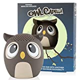 My Audio Pet Mini Bluetooth Animal Wireless Speaker with TRUE WIRELESS STEREO TECHNOLOGY – Pair with another TWS Pet for Powerful Rich Room-filling Sound – (OWLcapella Brown)