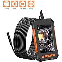 ETbotu P40 HD Endoscope,1080P Waterproof Handheld Inspection Camera Borescope 8MM