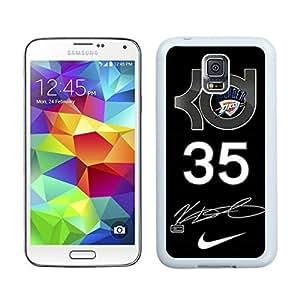Samsung Galaxy S5 Case,2015 Hot New Fashion Stylish Oklahoma City Thunder Kevin Durant 8 White Case Cover for Samsung Galaxy S5 i9600