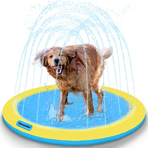 morpilot Pets Splash Sprinkler Pad for Dogs, 51