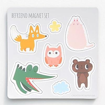 set of 7 Refrigerator Magnet Fridge Magnet Kitchen Magnets Fun Magnets Decorative Magnets Cute Magnets Monolike Rubber Magnet set Befriend