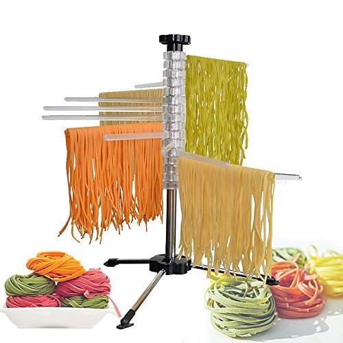 Pasta Drying Rack, Noodle Dryer of Fresh Pasta - Easily Dries All Long Noodles Steel and Polycarbonate, Collapsible