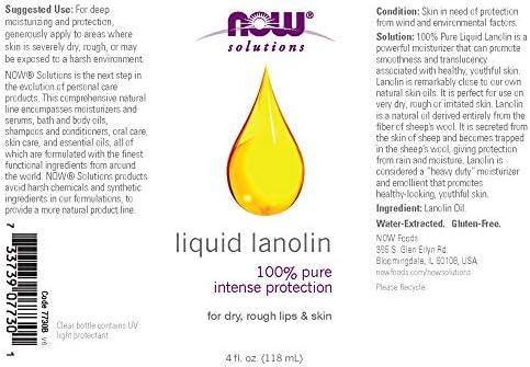 Now Foods, Solutions, Liquid Lanolin, 4 fl oz (118 ml)