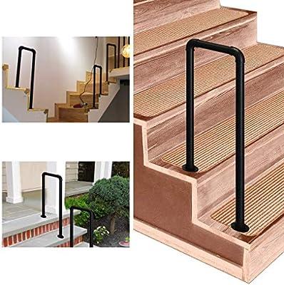 FS Pasamanos for escaleras Exteriores, barandilla de Hierro Forjado Tipo U, for jardín Exterior de Pasillo 35-95cm Opcional (Size : 95cm/3.1ft): Amazon.es: Hogar