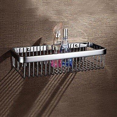 MEI Bathroom Shelf Chrome Wall Mounted 3213.27.5cm(12.65.13 inch) Brass Contemporary by MEI