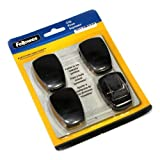 Fellowes, Inc Panel Clip, Adjustable, 1-1/4X5/8X1-7/8, 4/Pack, Graphite by Fellowes