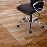 Kuyal Clear Chair Mat, Hard Floor Use, 30' x 48' Transparent Office Home Floor Protector mat Chairmats