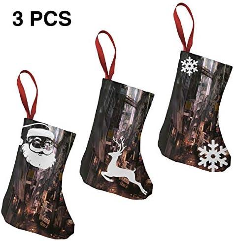 クリスマスの日の靴下 (ソックス3個)クリスマスデコレーションソックス 今後の市登場 クリスマス、ハロウィン 家庭用、ショッピングモール用、お祝いの雰囲気を加える 人気を高める、販売、プロモーション、年次式