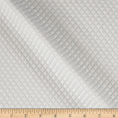 TELIO Mini Quilted Knit Diamond Ecru Fabric by The Yard