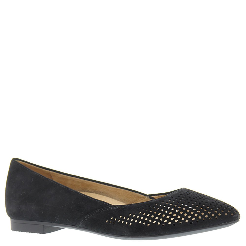 Vionic Women's, Posey Pointed Toe Fashion Flats Black 9 W