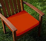 Lushomes Cotton Red Wood Chair Pads with 4 Strings and Foam Filling (2 pcs)