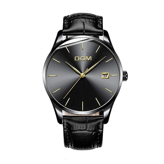 Reloj Hombres con indicador de fecha Acero Inoxidable Negro Clásico Cuarzo Malla Banda Reloj de pulsera