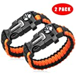 2PCS PACK Multifunctional Paracord Br...