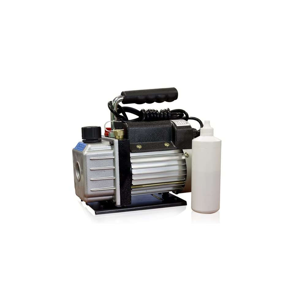 Vacuum Pump Rotary Vane 2.3 CFM 1/4 Hp R134a Hvac Tool Air Conditioning Automotive