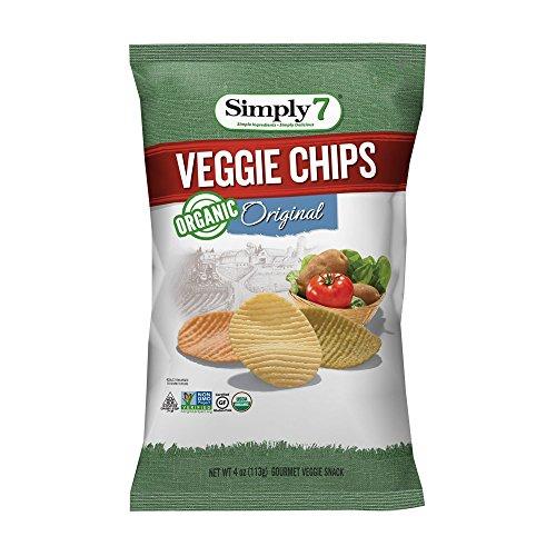 Simply7 Gluten Free Organic Veggie Chips, Original, 4 Ounce (Pack of 12)