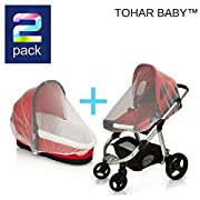 PREMIUM BABY MOSQUITO NET for Strollers, Carriers, Car Seats cover ,Cradles, beds. Fits Most PacknPlays, Cribs, Bassinets & Playpens ,Portable & Durable ,Insect mesh Netting (White)