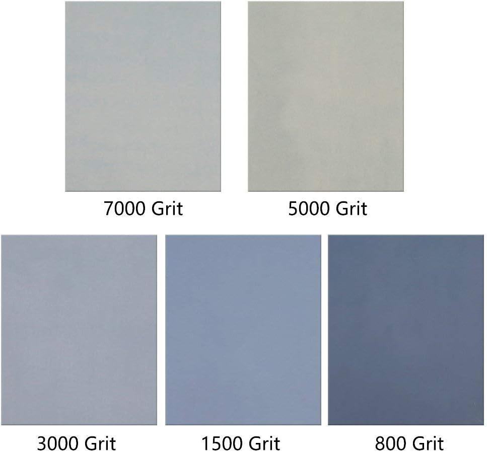 Akrcheft Lot de 15 feuilles de papier abrasif sec 800//1500//3000//5000//7000 grain 230 x 280 mm 9 x 11 pouces