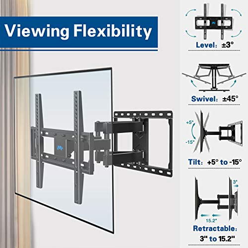 Large Product Image of Mounting Dream MD2380 TV Wall Mount Bracket for Most 26-55 Inch LED, LCD, OLED and Plasma Flat Screen TV, with Full Motion Swivel Articulating Dual Arms, up to VESA 400x400mm with Tilting for Monitor
